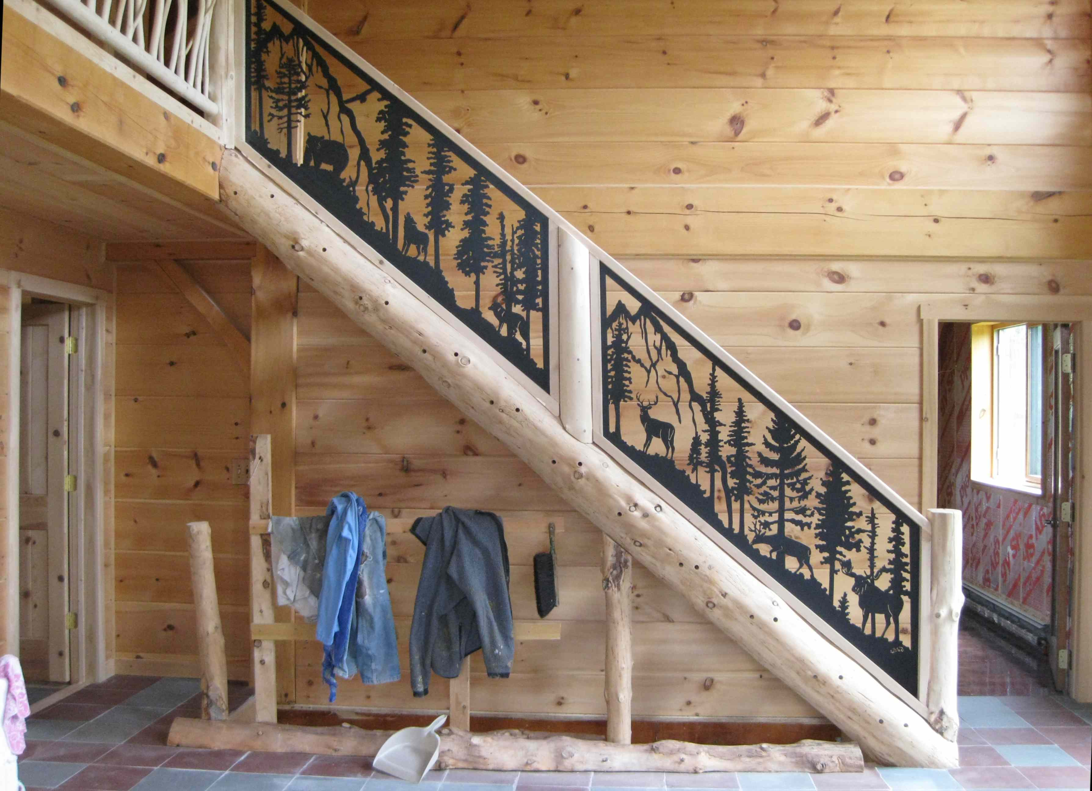 Captivating The Log Stairs, With Posts, And Rails From Stair Goddess.